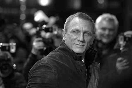 Daniel Craig at the premiere of Girl with the Dragon Tattoo, Leicester Square, London 2011
