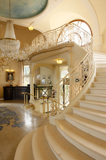 Belle Epoque staircase at Hotel Royal