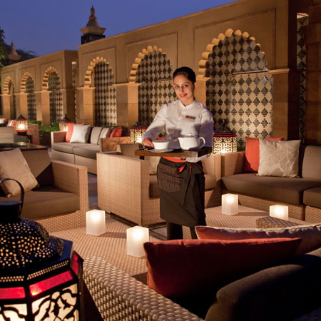 First class service at Leela Palace