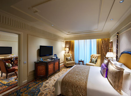 Luxury bedroom suites at Leela Palace