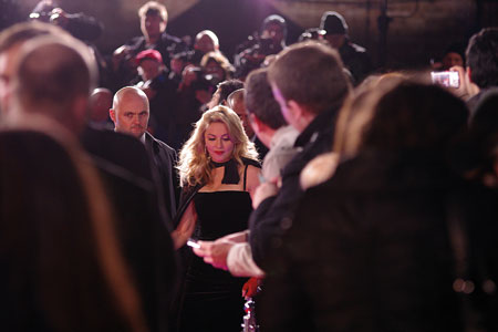 Madonna at the W.E premiere, Leicester Square, London 2012
