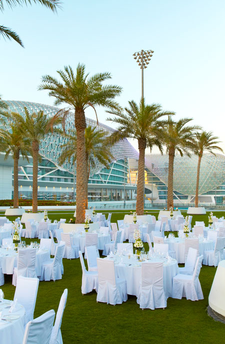 Palm Garden dressed for a function