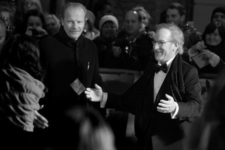 Steven Spielberg at the War Horse premiere, Leicester Square, London 2012