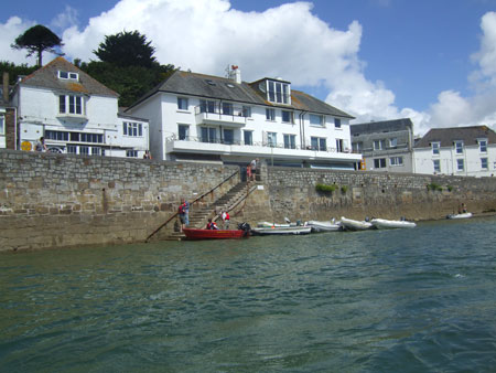 View back to St Mawes from the water