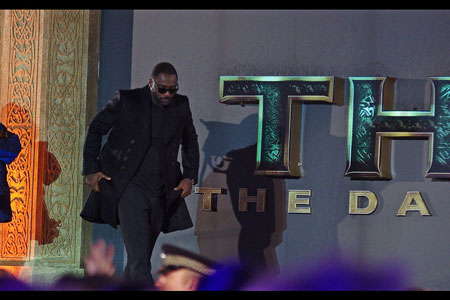 Idris Elba knows how to make an entrance