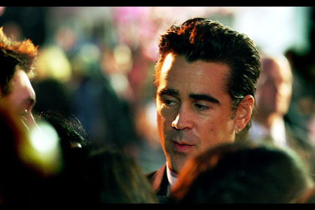 The nocturnal Mr Colin Farrell just begins to awake