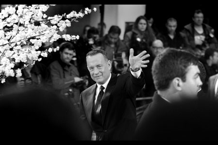 Tom Hanks, almost Presidential with that wave