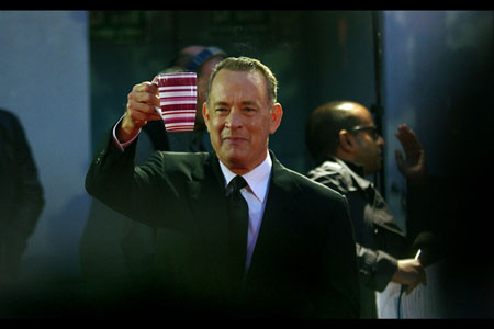 Tom Hanks appreciates a British cuppa