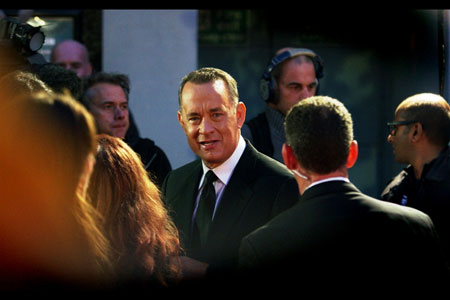 He just looks the part. Tom  Hanks for President