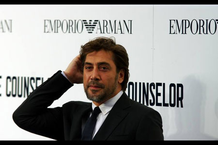 Javier Bardem at The Counselor premiere
