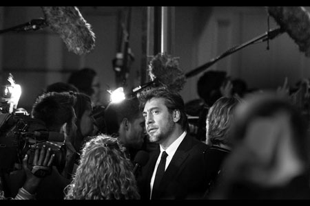 Black and white chic. Mr Javier Bardem