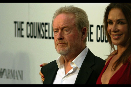 Iconic Director, Ridley Scott with the glamorous Ms Giannina Facio