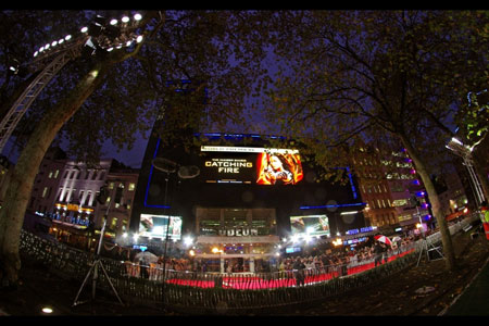 Hunger Games, Catching Fire. Leicester Square panoramic