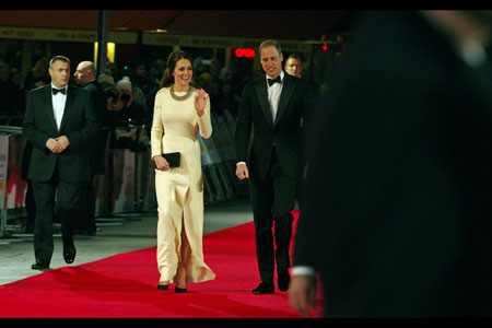 Royal couple, William and Kate at Mandela premiere