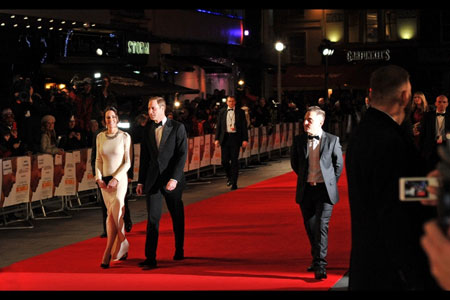 Prince William and The Duchess of Cambridge at Mandela premiere