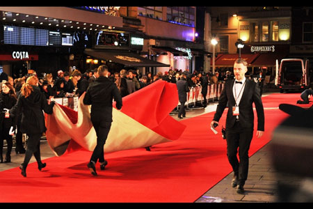 Red carpet at the Mandela Premiere