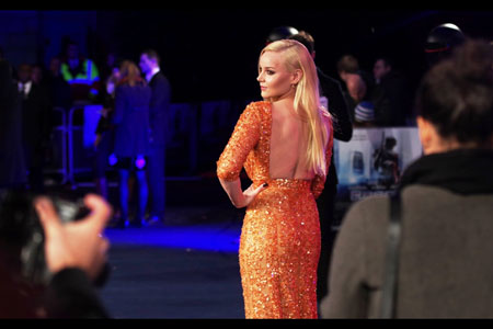Glamorous Abbie Cornish  works the camera