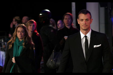Striking. Robocop actor Joel Kinnaman