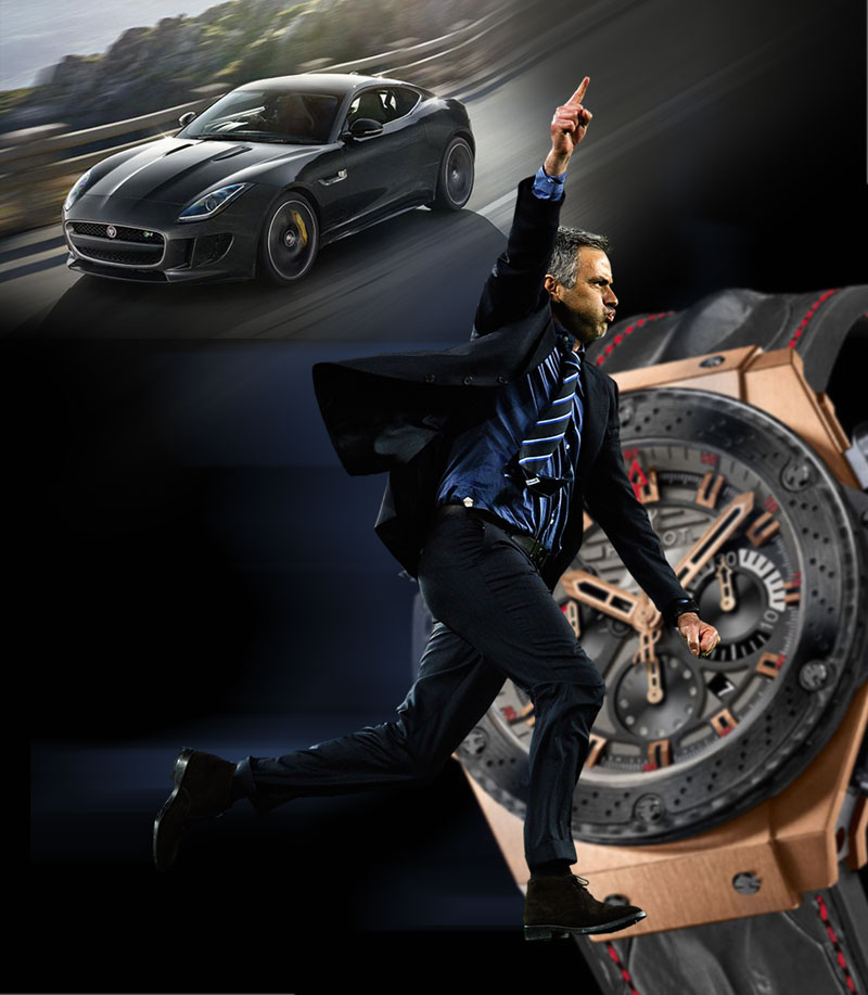 Back of the net! Mourinho bags Jaguar and Hublot deals