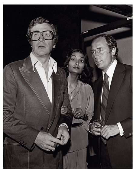 Michael and Shakira Caine with Doug Hayward