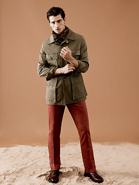 Tailored safari jacket with cravat