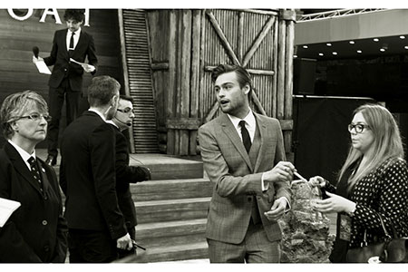 In black and white; Douglas Booth