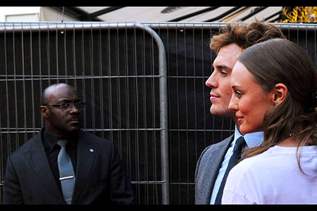 In profile; Sam Claflin with actress wife Laura Haddock