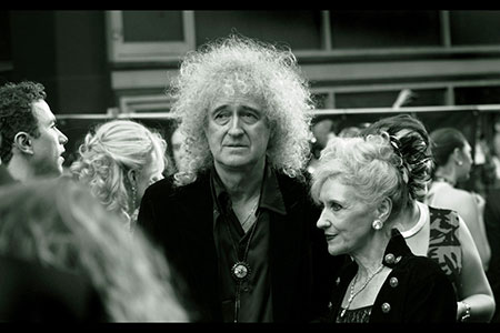 Poodle power, Brian May and Anita Dobson