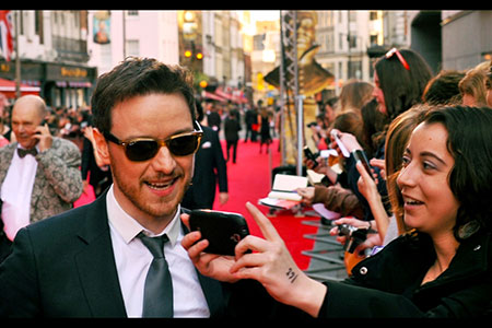 James McAvoy attempts a selfie
