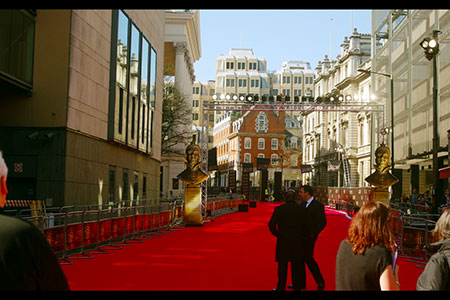 Pre-mayhem at the Olivier Awards