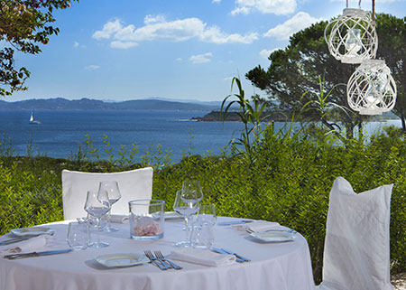 Resort Valle dell'Erica dining. Sardinia