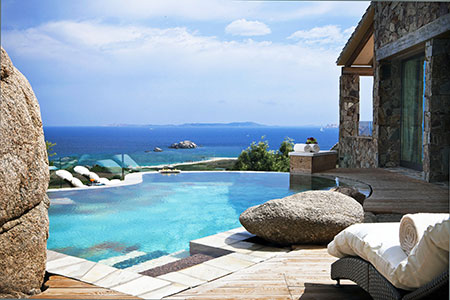 Resort Valle dell'Erica, Licciola, imperial president suite, pool. Sardinia