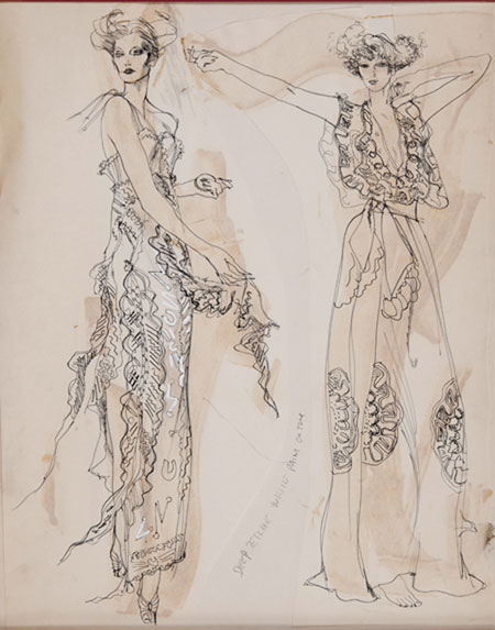 Gray MCA Fashion Illustration Sale