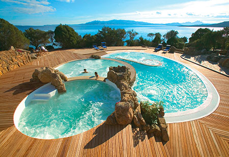 Hotel Capo d'Orso, Thalasso swimming pools. Sardinia
