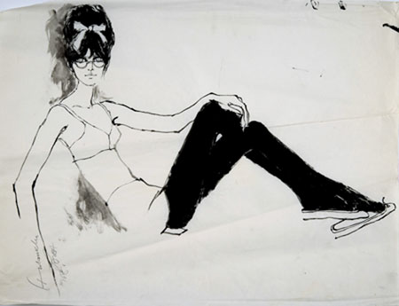 Barbara Hulanicki (1936 - ) Original Fashion Sketch BIBA - 1968 1968, Watercolour on Paper, signed & inscribed 43 x 65 cms £2,500