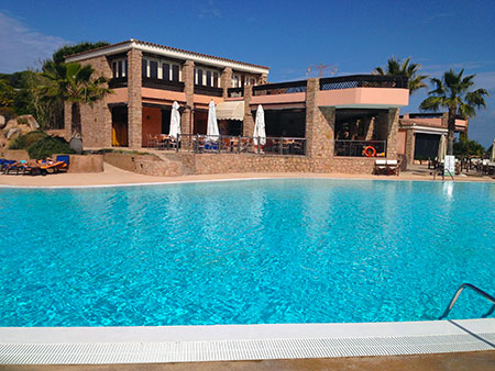 Poolside, Resort Valle dell'Erica. Sardinia