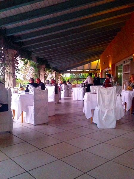Resort Valle dell'Erica, evening dining. Sardinia