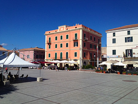 Typical Sardinian Piazza and square