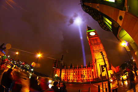 spectra lights out 100 years WW1 Big Ben