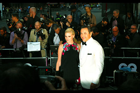 GQ Awards 2014 Royal Opera House David Walliams and wife, Lara Stone