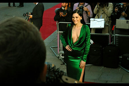GQ Awards 2014 Royal Opera House Jessie J shimmers