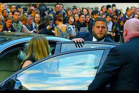 GQ Awards 2014 Royal Opera House Jonah Hill makes an entrance