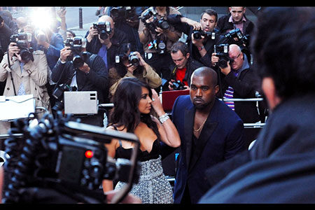 GQ Awards 2014 Royal Opera House Kim Kardashian next to Kanye West