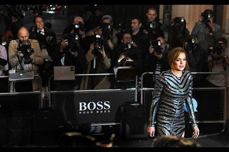GQ Awards 2014 Royal Opera House Lindsay Lohan