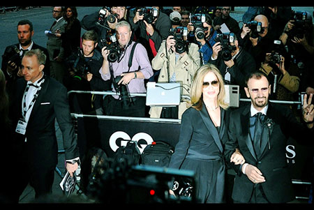 GQ Awards 2014 Royal Opera House Ringo Starr and Barbara Bach
