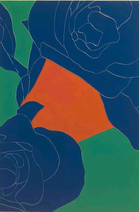 Gary Hume, Geranium, 2013, linocut and silkscreen, edition of 18, 800 x 1190 mm. Courtesy of Galerie Simpson Dark Matter Studio