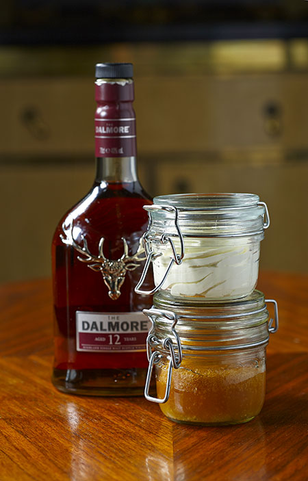 Baba-with-Dalmore-single-malt-12-year-old-whisky-&-whipped-cream