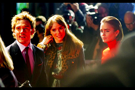 Sam Claflin, Lily Collins and Suki Waterhouse