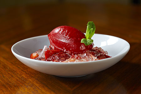 Elderflower-Marinated-Strawberries,-sorbet-&-jelly