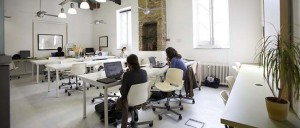 Shared desk space